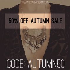 The Autumn sale is here! At the checkout use the code AUTUMN50 to get 50% off your entire order.    #womensfashion #fashion #grungegirl #bohemian #boho #grunge #fashion #halfoff #wicca #witch #jewelry #jewellery #silver #ring #midiring #aw2016 #halfprice #altfashion #love #life #beautiful #namaste #bestoftheday #fall #autumn #couponcode #discount #flashsale #sale