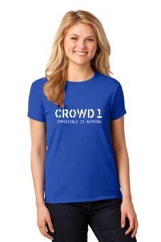 Crowd 1 T-Shirt Christian Shirts, Christian Women, Mom Shirts, T Shirts For Women, Shirt Designs, V Neck, Model, Crowd, Tops