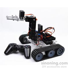RC robot arduino acrylic tank robotic 4DOF arm DIY assembly kit SNAR20 STEM Rc Robot, Robot Kits, Robot Arm, Mechanical Arm, Degrees Of Freedom, Metal Robot, Engineering Plastics, Smart Car, Accessories Store