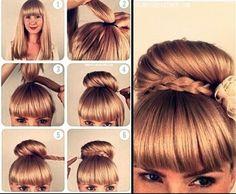 Adorable braided #bun! #DIY - Hair & Beauty