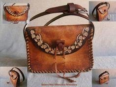 bolso artesanal de cuero personalizado cuero primera calidad,tinte ...