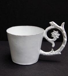 Astier de Villatte Emily Tea Cup Sue Fisher King - Home Furnishings and Boutique Shop Ceramic Clay, Ceramic Pottery, Kings Home, Clay Cup, Tea Art, My Cup Of Tea, Tea Bowls, Mug Cup, Tea Time