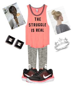 VSX•PINK•Nike by thisisvintage on Polyvore featuring polyvore, fashion, style, Victoria's Secret PINK, Victoria's Secret, NIKE, Givenchy, Kevin Jewelers and clothing