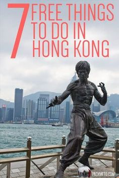 7 Free Things to Do in Hong Kong - #1 Walk along the Avenue of the Stars & pose with Bruce Lee | packmeto.com