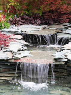 Gardening slabs and slate are beautifully thin and wide to disperse your water and create trickles and streams that will lull your yard to a sense of peace. Water sources are easy to hide beneath easy to lift slabs for maintenance and winterizing purposes.
