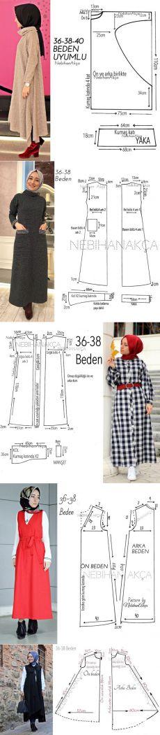 Modèles avec patrons hijab