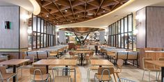 exemplar of modern and vibrant food court