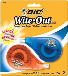 BIC Wite-Out Correction Tape, 2 Tapes, http://www.amazon.com/dp/B0013CFDPQ/ref=cm_sw_r_pi_awdm_k6IFvb0TWGCM0