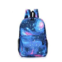 Fancy Galaxy Backpack Blue School Bag Accessory   - Click image twice for more info - See a larger selection of blue backpacks at http://kidsbackpackstore.com/product-category/red-backpacks/. - kids, juniors, back to school, kids fashion ideas, teens fashion ideas, school supplies, backpack, bag , teenagers girls , gift ideas, blue