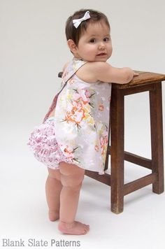 (9) Name: 'Sewing : Criss Cross Pinafore and Bloomers