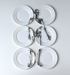 Bone China Skeleton Plates