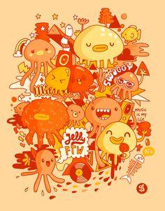Monsters inspiration #inspiration #illustration #art #monster