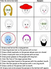 Feelings and Emotions Worksheets and Printouts - Enchanted Learning Teaching Emotions, Feelings And Emotions, Kids Fun, Cool Kids, Enchanted Learning, Visual Aids, Counselling, Social Work, Worksheets
