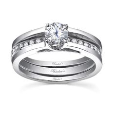 white gold diamond engagement ring set 7491sw dramatic interlocking diamond wedding set featuring - Interlocking Wedding Rings
