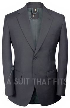Black Distinguished Two Piece Suit with a forest green lining.
