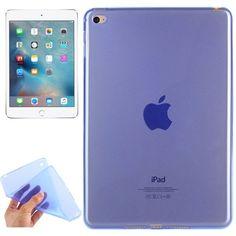 For+iPad+mini+4+Blue+Transparent+and+Soft+TPU+Protective+Case