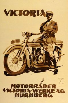 Ludwig Hohlwein ad for Victoria motorcycles