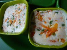 Frittatas a la carotte parmesan ciboulette