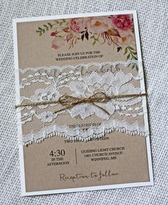 The Vanessa Suite   Lace Saving for the idea of the lace and twine. Big effect for cheap.