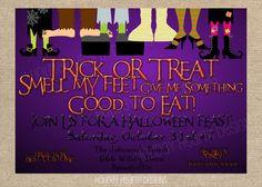 halloween invitation handmade digital by HolidayHearthDesigns, $14.00