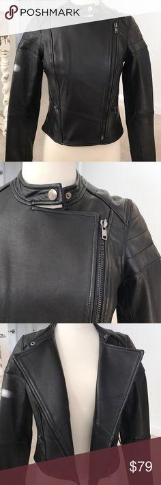 BB Dakota Collective Leather Moto Jacket SZ Small BB Dakota Collective Leather Moto Jacket SZ Small 100% Leather outer Poly lining  Worn once Slight cracking on left arm BB Dakota Jackets & Coats