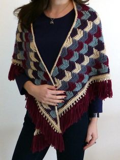 Arrow Tails Shawl By Esther Chandler - Free Crochet Pattern - (makemydaycreative)
