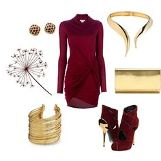 A fashion look from September 2012 featuring long sleeve cocktail dresses, heeled ankle booties and handbag purse. Browse and shop related looks. Dressy Outfits, Chic Outfits, New Wardrobe, Types Of Fashion Styles, Evening Gowns, Fashion Looks, Clothes For Women, My Style, Womens Fashion