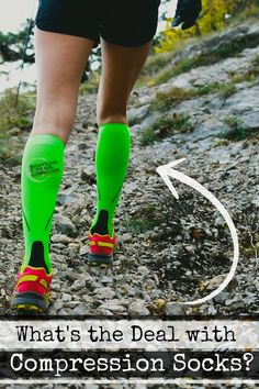 What's the Deal with Compression socks? Stand at the finish line of any running race and you will likely see countless runners wearing knee high socks or leg sleeves. Believe it or not, those socks actually serve a purpose...and it's not simply to make a fashion statement