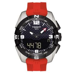 Tissot T-Touch Expert Solar Rood Tissot T Touch, Box Tops, Cartier, Tissot Mens Watch, Tissot T Race, Apple Watch Fashion, Le Locle, Titanium Watches, Solar Watch