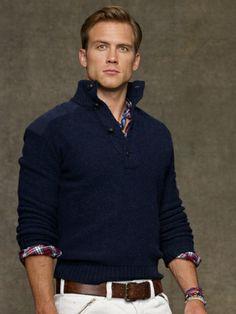Wool Mockneck Sweater - Polo Ralph Lauren Half-Zip & Mock Neck - RalphLauren.com