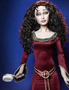 Tangled Mother Gothel - Originally a Harry Potter Bellatrix, I resculpted and repainted this doll as Mother Gothel from the Disney movie Tangled