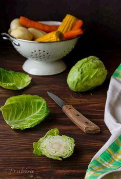 La cocina de Frabisa: Repollo guisado con chorizo y verduras. Imprescindible.