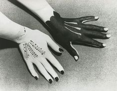 Hands painted by Picasso photographed by Man Ray 1935