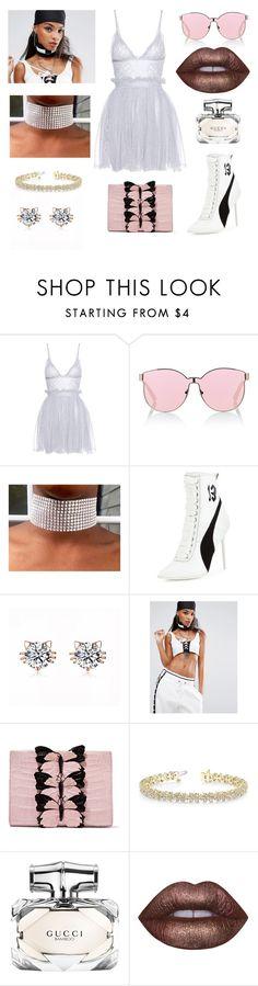 """#194"" by twinklelady ❤ liked on Polyvore featuring Alexander McQueen, Karen Walker, Puma, Nancy Gonzalez, Allurez, Gucci and Lime Crime"