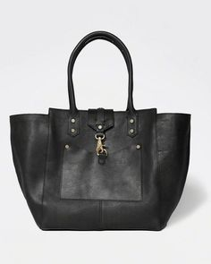 Abercrombie & Fitch The City Carryall Genuine Leather Bag