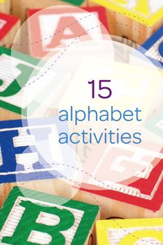 Learning the alphabet is no easy task for many toddlers. Make the ABCs a little more fun with this collection of alphabet activities that you and your little one can do together. Create a number and letter scavenger hunt in your backyard to keep your child's mind and body active at the same time. You can hide letter blocks all around your home and use hints to help your kid find them. For a challenge, have him try to find objects that begin with each letter.