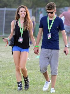 Part time model and pro dancer, Danielle Peazer with ex-boyfriend Liam Payne (member of boy band One Direction)
