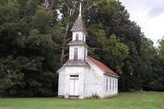 Love the old, little white churches!