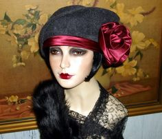 Exquisite Edwardian Flapper Hat Downton Abbey Cloche Couture 1920s Vtg Flair XL      ❤ ❤ ❤