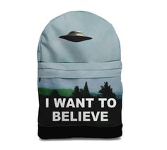 SALE I want to believe backpack bag