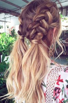 47 Easy Hairstyles for Schools to Try in Peinados, It super easy and looks great! easy hairstyles for school. Pretty Hairstyles, Beach Hairstyles Medium, Hairstyles For Pictures, Amazing Hairstyles, Cool Hairstyles For School, Hairstyles 2018, Ponytail Hairstyles, Hairstyle Ideas, Boho Hairstyles