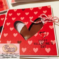 Valentine's Card by Angela Tombari for The Robin's Nest