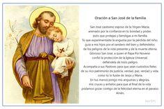 Imagen para imprimir de la oración a San José de la familia