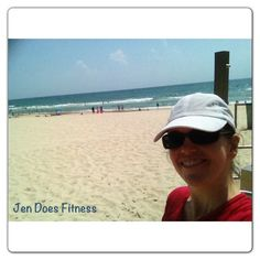 Running around in the sand and surf... a great way to burn calories