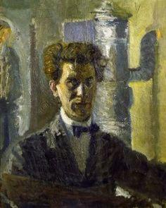 Richard Gerstl (Autriche, 1883-1908) – Selbstbildnis vor dem Ofen (1906-07) Neue Galerie, New York