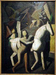 Mario Sironi - der weiß pferd
