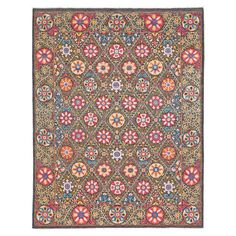 Featuring an exotic medallion design and hand-knotted wool craftsmanship, this one-of-a-kind rug lends a colorful touch to your living room or den. Pair it w...