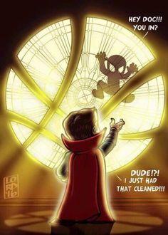 Dr. Strange meets Spiderman