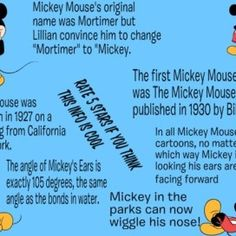 Mickey Mouse Fun Facts