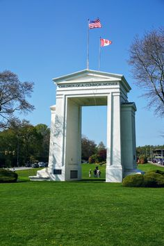Peace Arch!! Travel between Canada and the US without a passport (must stay within the park boundaries and exit on the same side you entered from)